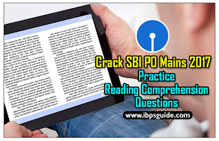 Crack SBI PO Mains 2017: (Day-1) - Practice Reading Comprehension Questions ~COMBO~