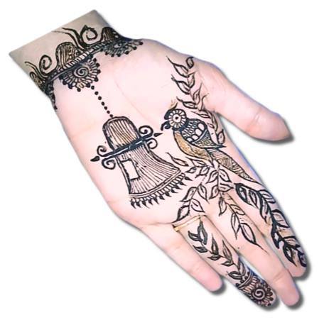 Parrot Mehndi Designs for Kids