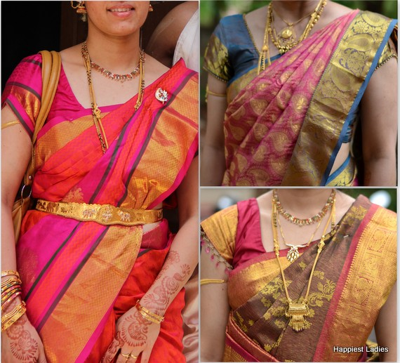vibrant silk saree color combinations