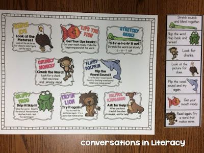 Reading Strategies Poster and Bookmarks