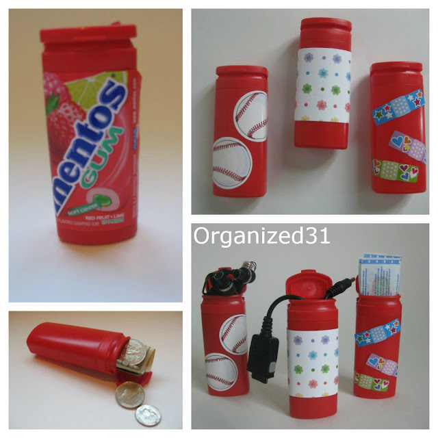 Organized 31 - Repurposed Mentos Container