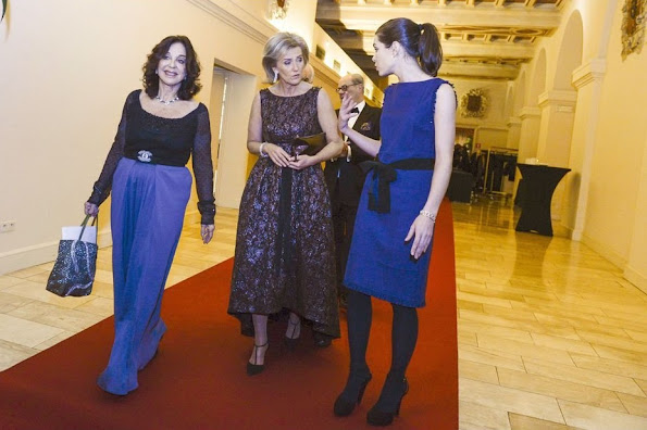 Princess Astrid of Belgium and Charlotte Casiraghi attended a dinner organized by the FXB International Association in Geneva
