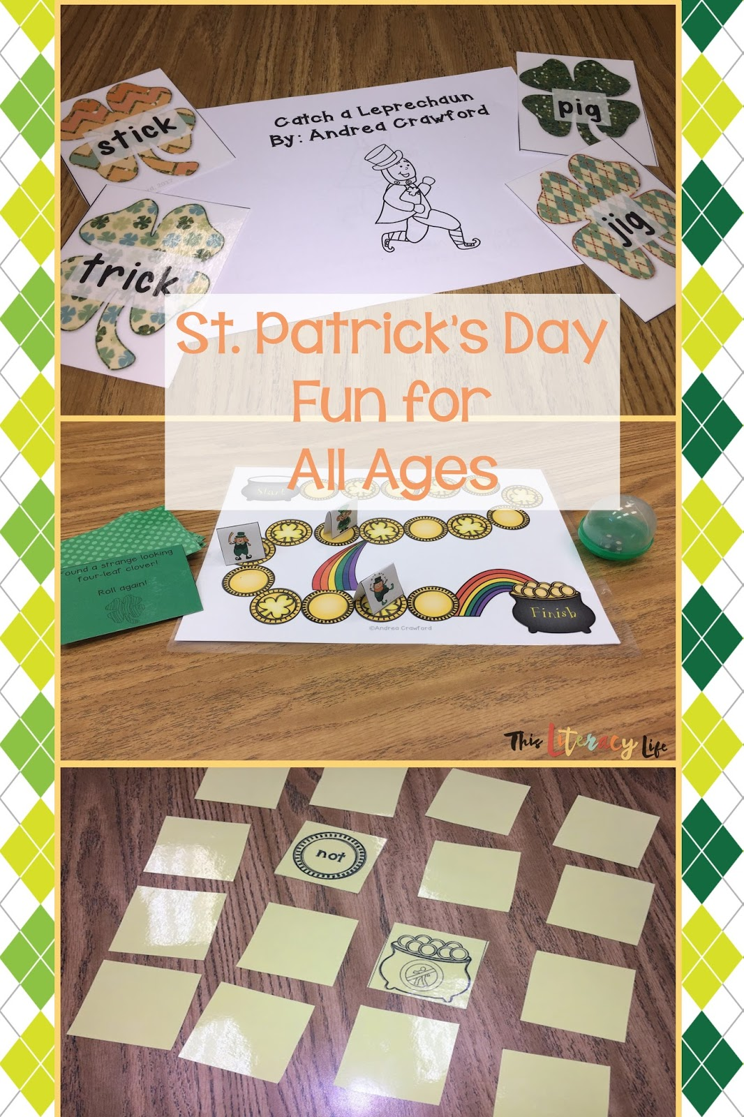 St. Patrick's Day can be fun for all ages! Use these fun and engaging literacy games, books, and activities to get your students smiling with the leprechauns!