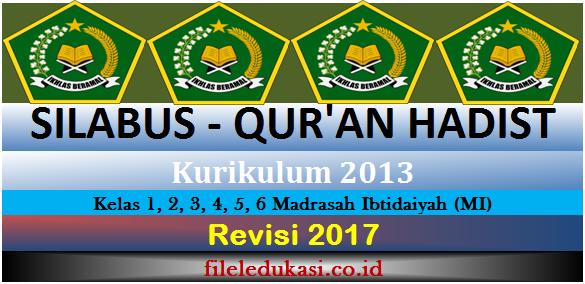 Silabus Qur'an Hadist Kurikulum 2013 Kelas 1-6 Mi