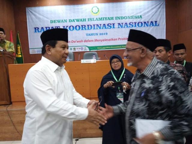 Dewan Da'wah Dukung dan Siap Menangkan Prabowo-Sandi