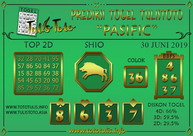 Prediksi Togel PASIFIC TULISTOTO 30 JUNI 2019