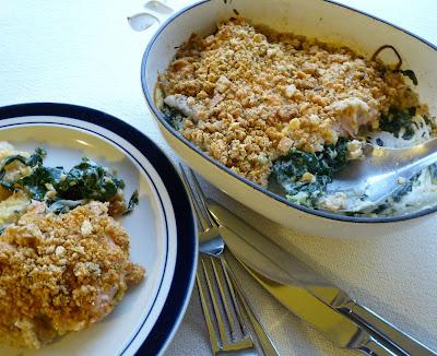 Trout & Spinach au gratin