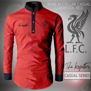 Kemeja Distro Bola Casual Liverpool