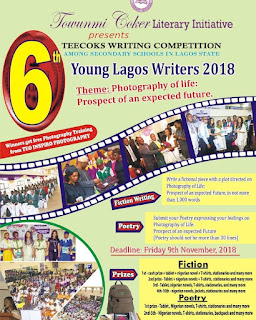 Teecoks 6th Writing Competition for Secondary School Students - 2018