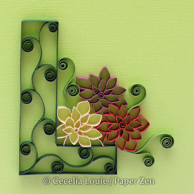 Quilling Letter L Cut Coil Flowers Tutorial