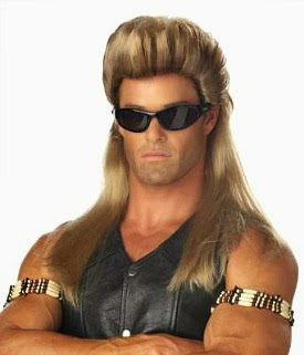 AUG 29 - FUNNY 80s MULLET WIGS - Perfect for creating a fun 80s costume.