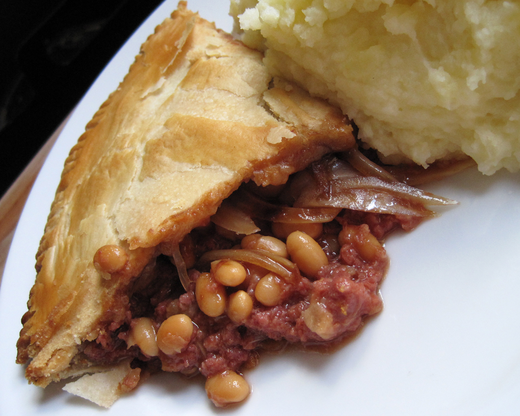 Corned Beef and Baked Bean Pie