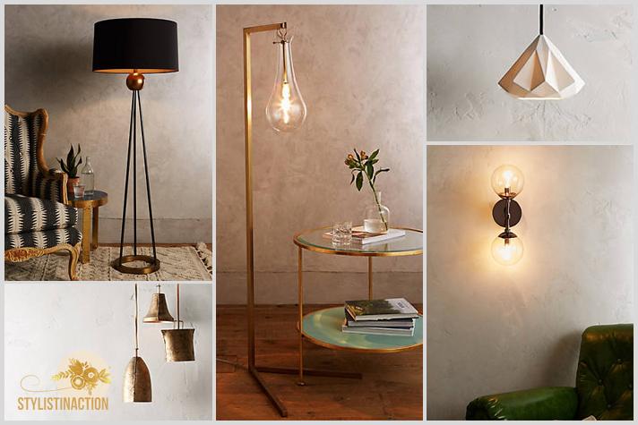 10 tips para tener en cuenta al momento de pensar la iluminación de tu casa. Post Stylistinaction. Fotos Anthropologie