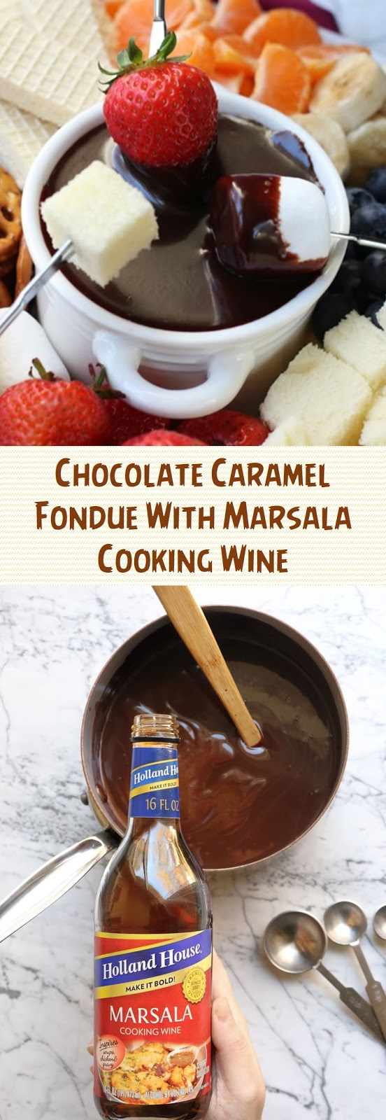 Chocolate Caramel Fondue With Marsala Cooking Wine