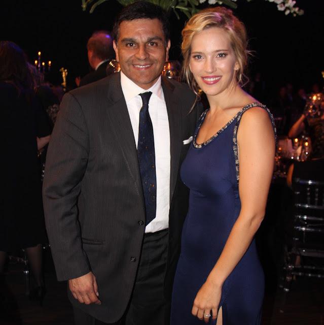 El Licenciado Pablo Guelfo y la actriz Luisana Lopilato en el Hotel Hilton