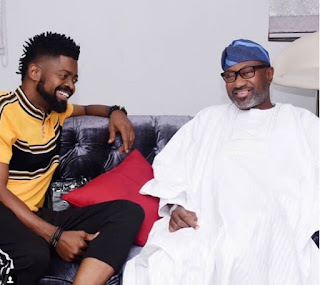 Basketmouth played a host to Femi Otedola