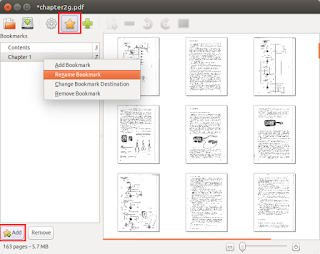 PDF Mod bookmarks editor screenshot