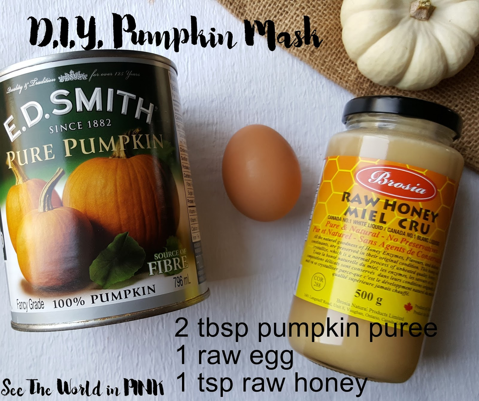 DIY Mask Thursday - Do It Yourself Pumpkin Face Mask!