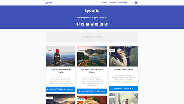 Lycoris Responsive Blogger Template