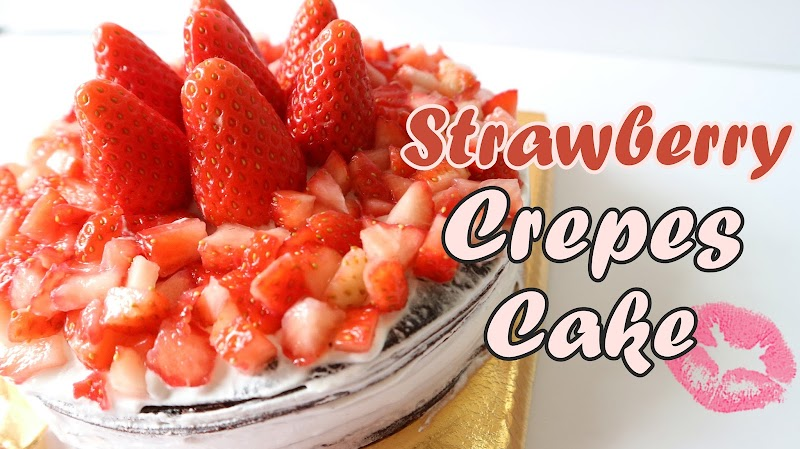 Strawberry Crepes Cake 士多啤梨千層蛋糕