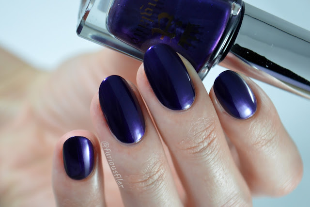 a england the blessed damozel swatch purple liquid