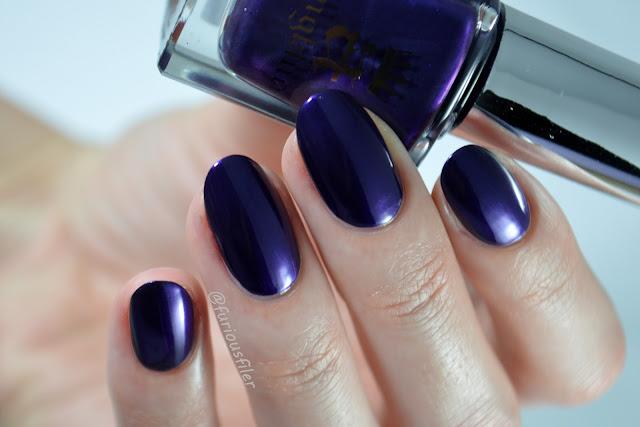 a england the blessed damozel swatch purple liquid