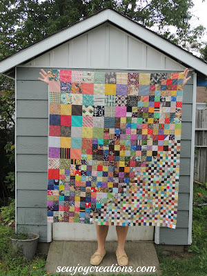 patchwork piecing scrap quilt