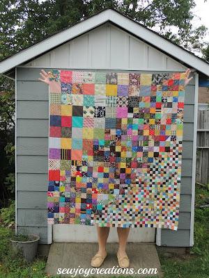 patchwork piecing scrap quilt