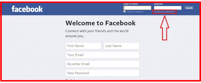 how to recover facebook email