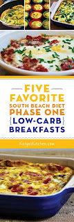Five Favorite South Beach Diet Phase One (Low-Carb) Breakfasts found on KalynsKitchen.com