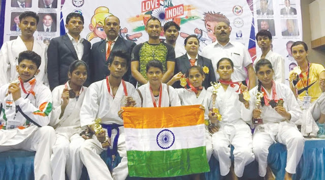 SK Self Defense Training School And Games Foundation Haryana Team Wins 5 Gold