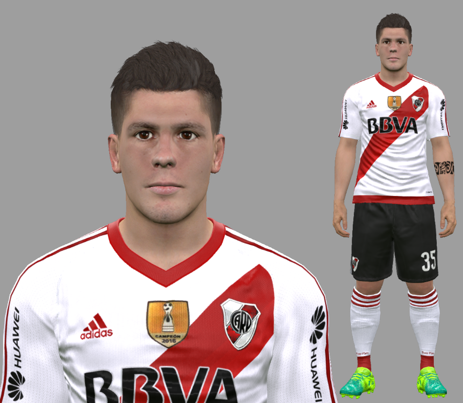 PES 2017 Tomas Andrade (River Plate) Face By DanielValencia