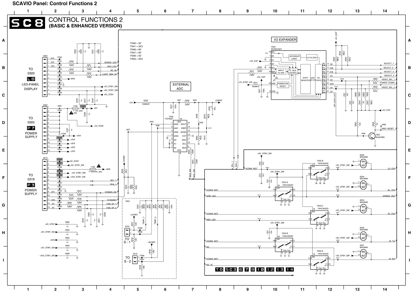 philips fm 23 - plasma display - main board schematic