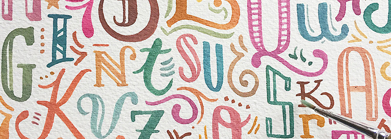 Creative chats with Abbey Sy an interview discussing creativity art lettering and illustration typography type letters rainbow