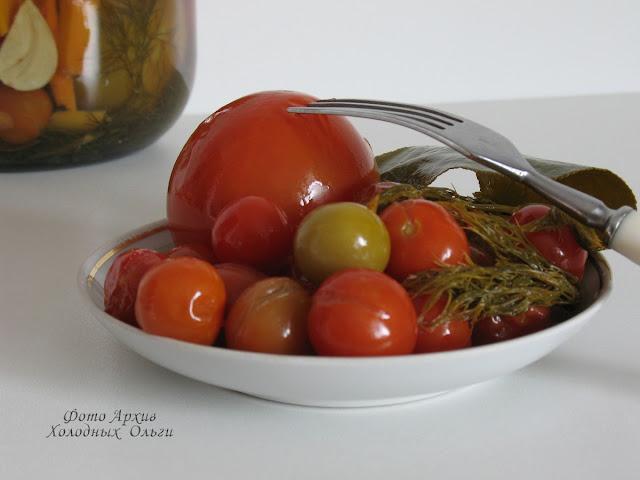 Горошки помидорные