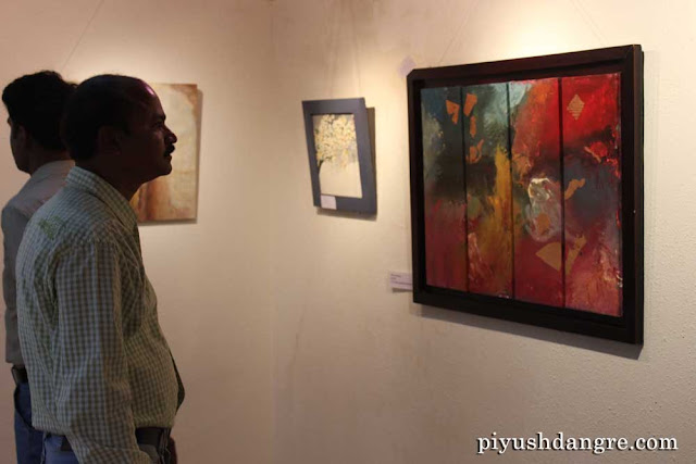 Uzma Firdous' art exhibition at Darda Art Gallery, Nagpur