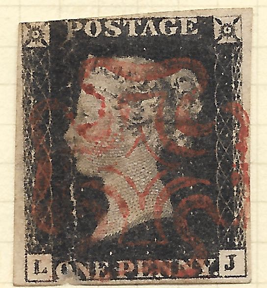 Photograph of a Penny Black image from the North Mymms History Project released under Creative Commons BY-NC-SA 4.0