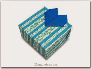gấp, xếp hộp quà hình trái tim bằng giấy origami