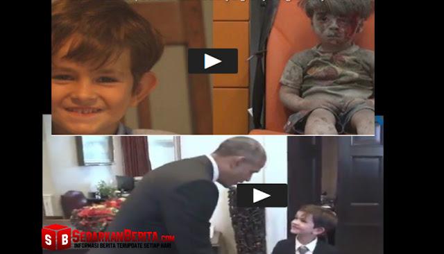 Obama Akhirnya Temui Alex, Bocah Penulis Surat tentang Anak Suriah yang Sungguh Menyentuh Hati