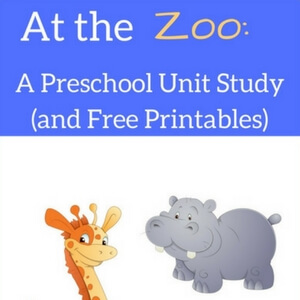 Preschool Zoo Unit Study