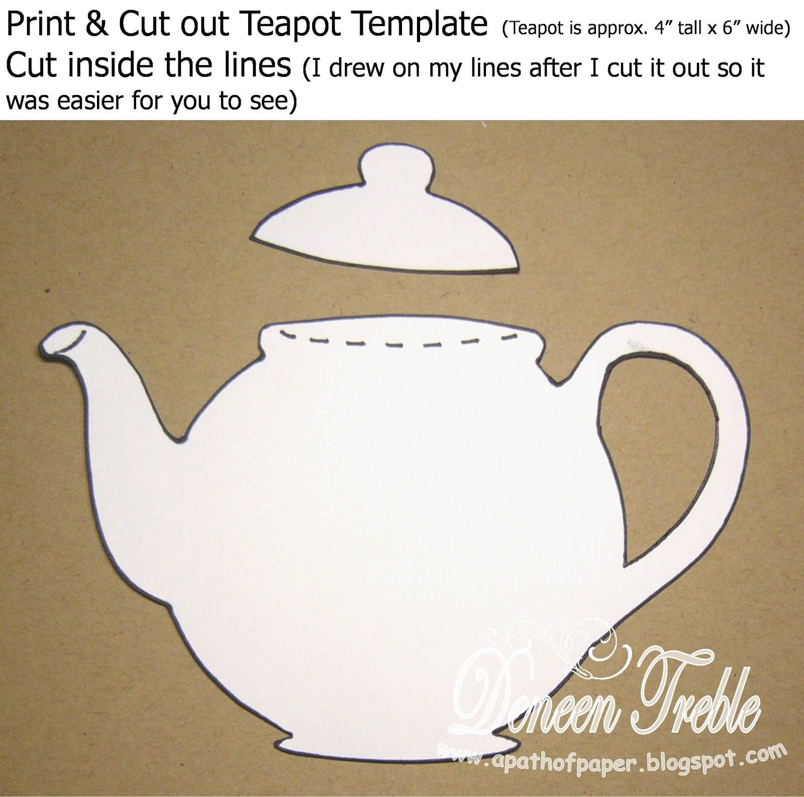 a path of paper top tip tuesday teapot card tutorial. Black Bedroom Furniture Sets. Home Design Ideas