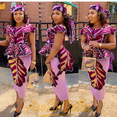 49 Edition of #ebfablook - Try This New Aso ebi lace Style Worn last week