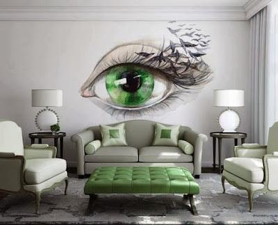 Decoración de interiores ojo pintado