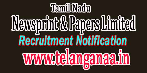 Tamil Nadu Newsprint & Papers Limited TNPL Recruitment Notification 2017