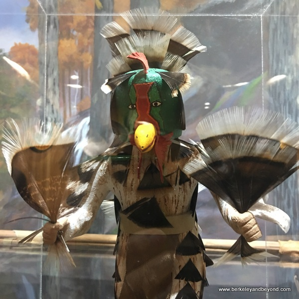 wild turkey feather kachina doll at Winchester Museum at the Wild Turkey Center in Edgefield, South Carolina