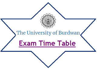 Burdwan University Exam Routine 2020