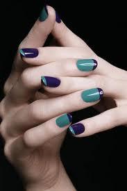 Melhores unhas decoradas com duas cores