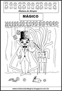 Desenho de mágico para colorir