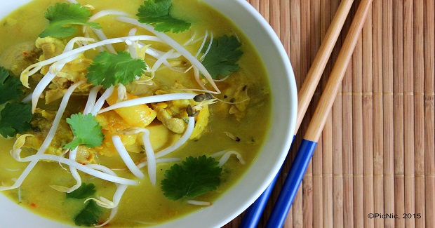 Chicken And Shrimp Laksa Recipe