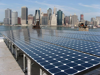 A rooftop solar system in Brooklyn installed with support from the U.S. Department of Energy and New York City. (Credit: DOE) Click to Enlarge.